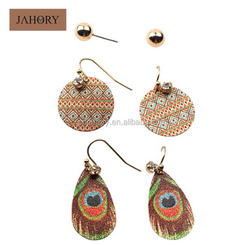 Whole Fashion Multiple Earring Sets For Women Jewelry Bohemia