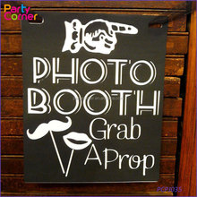 Photo Booth Wedding Engagement Teken Props Zwart-wit Retro