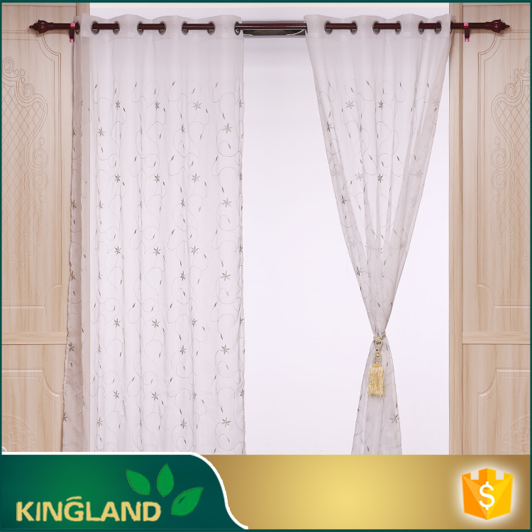 2016 wholesale Hot sale linen embroidery curtain embroidery lace fabric macrame lace curtain