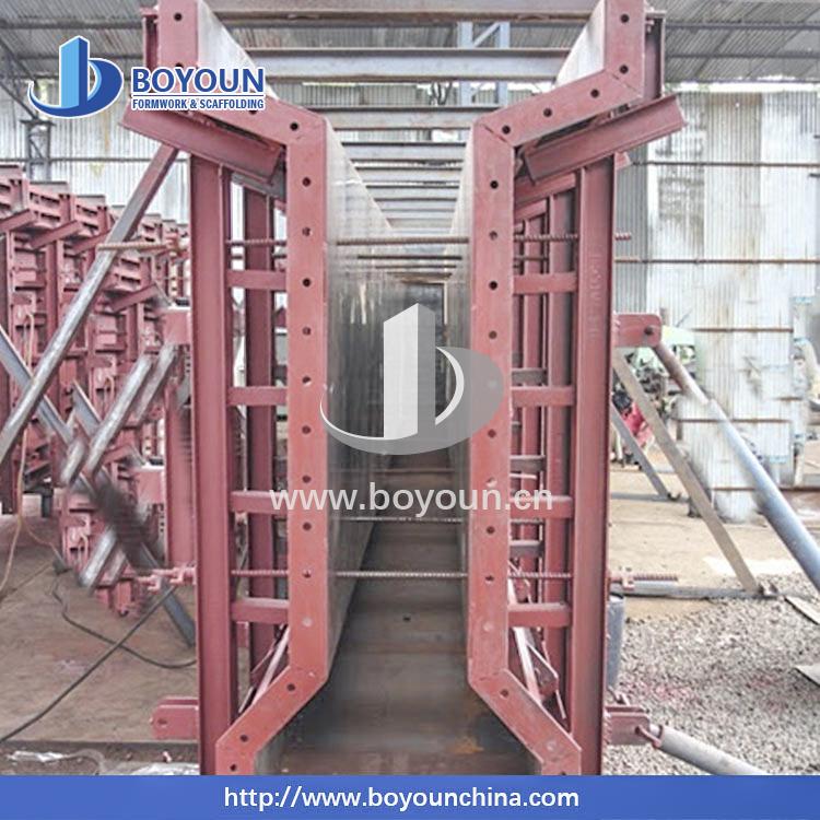 Peri formu T ve I kiriş kalıp köprü ve viyadük inşaat yeniden kullanılabilir malzeme çelik kalıp