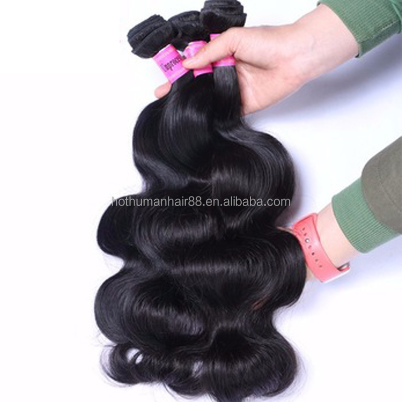 7A 4*4 Lace Closure With 3Pcs Brazilian Virgin Hair Body Wave Natural Color Unprocessed Virgin Brazilian Hair фото