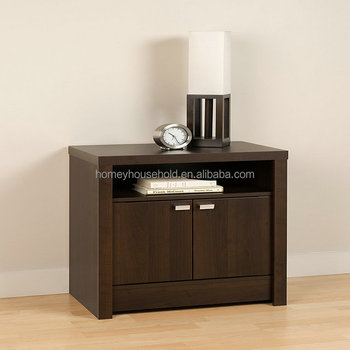 Modern Furniture Black 2 Door Tall Nightstand Wood Hospital Table Bedside Used Tables Wooden Balck Safe