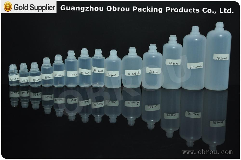 Atacado 1 oz frasco conta-gotas 30 ml pe plástico e garrafa de líquido com tampa CRC