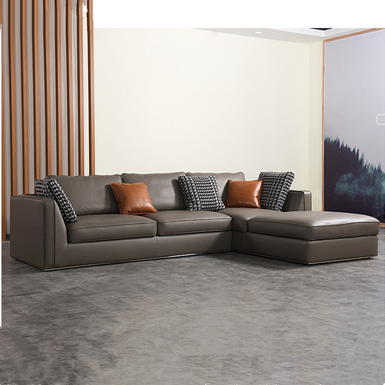 Grey Modern Sofa Set Contemporary Sofas Gray Sectional Mid ...