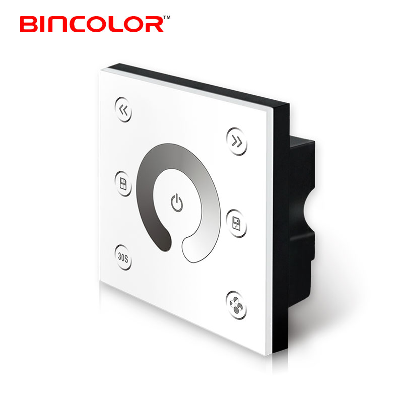P1-PWM10V DC 12V to 24V wall mounted led dimmer glass slide touch panel 2 channels PWM10V led signal dimmer
