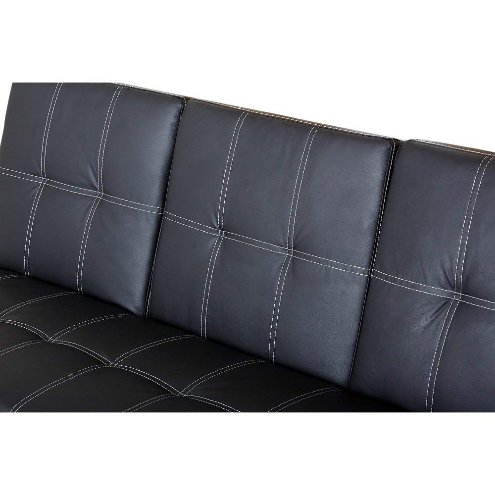 MyEasyShopping Bridgeport Halsted Convertible Futon Sofa Bed Futon Sofa Bed Couch Sleeper Frame
