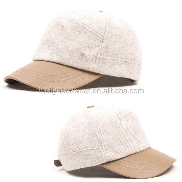 4068d6343547e1 china manufacturer high quality custom tweed short brim baseball caps