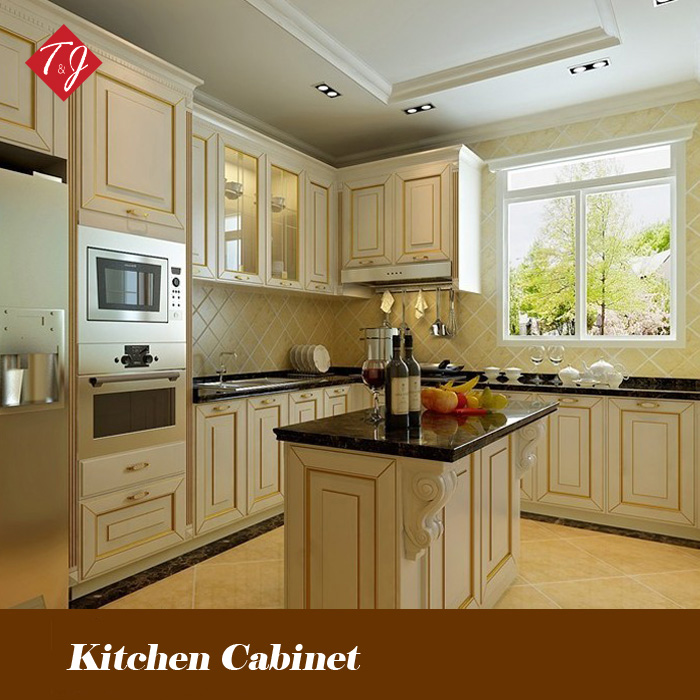 Design Kitchen Cabinets Free: Free Design Classic Style Solid Wood Kitchen Cabinet
