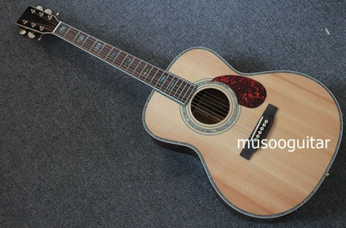wholesale new brand om45 acoustic guitar with real abalone inlay on top acoustic electric. Black Bedroom Furniture Sets. Home Design Ideas