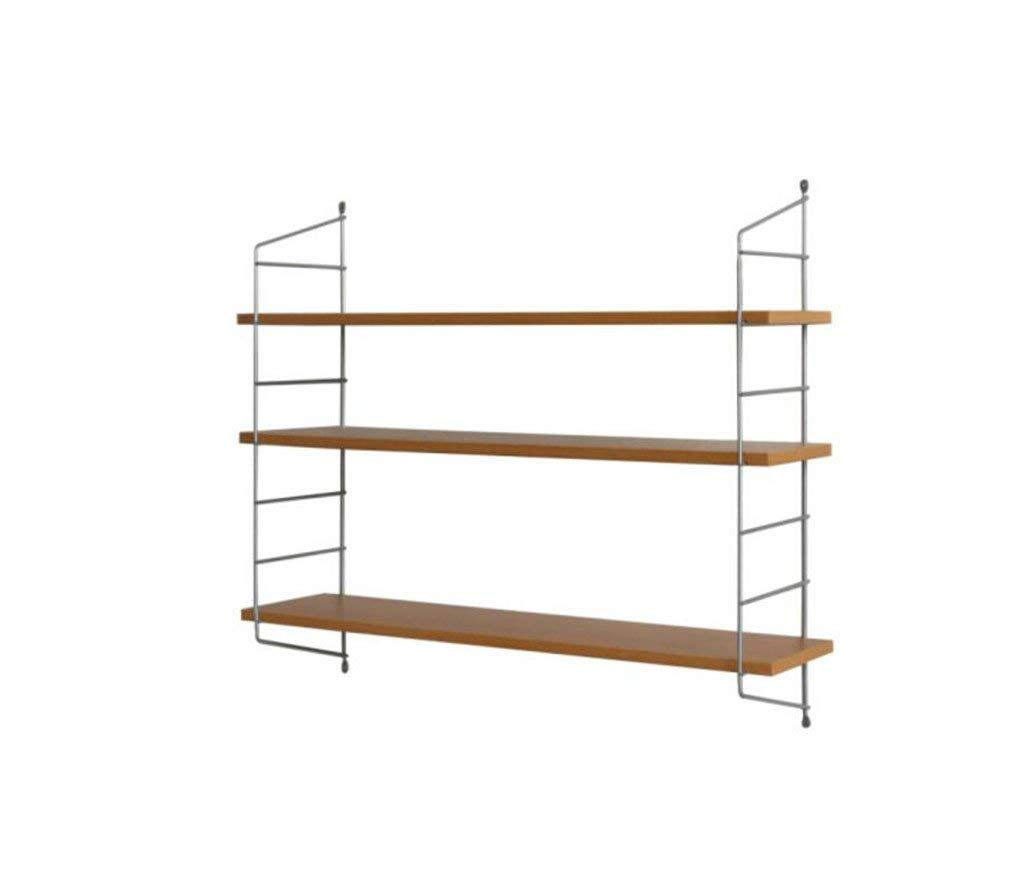 LQQGXL Storage and organization Square shelf rack, wooden storage shelf, metal shelf CD shelf, wall hanging wooden shelf. (Size : 80cm)