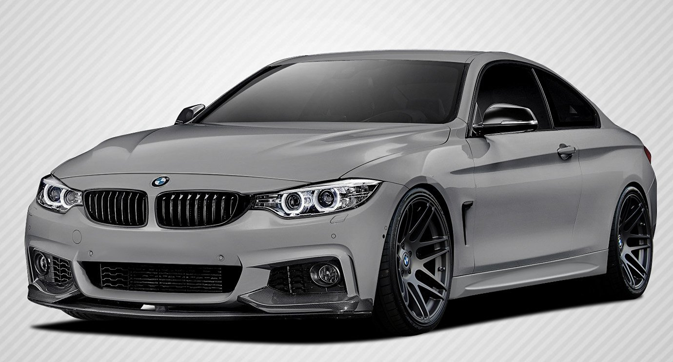 2014-2016 BMW 4 Series F32 Carbon Creations M Performance Look Body Kit - 5 Piece - Includes M Performance Look Front Spoiler Splitters (109782) M Performance Look Rear Diffuser (109784) M Performance Look Wing Trunk Lid Spoiler (109577)