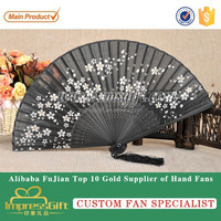 Personalized Chinese paper folding hand fan for advertisement gifts