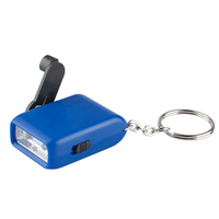 Very cheap price Mini dynamo Rechargeable 2 LED Flashlight with keychain