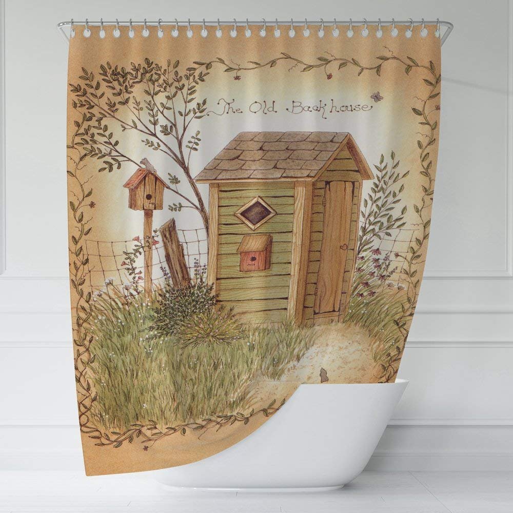 Buy DQ HomeDecor Country Outhouses Shower Curtain Art Print Bathroom  Clawfoot Tub Decor Long Shower Curtain Set 54 x 72 inches Fabric Shower  Curtain Contemporary Bathroom Curtains Waterproof Curtain in Cheap Price