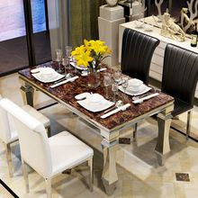 French modern luxury cheap high square center restaurant furniture dinning table