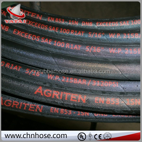 Application for automobile black production line for 2 plies supply braid Cloth Covered hydraulic hose