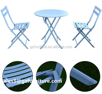 Bistro Set Patio 3pc Table Chairs