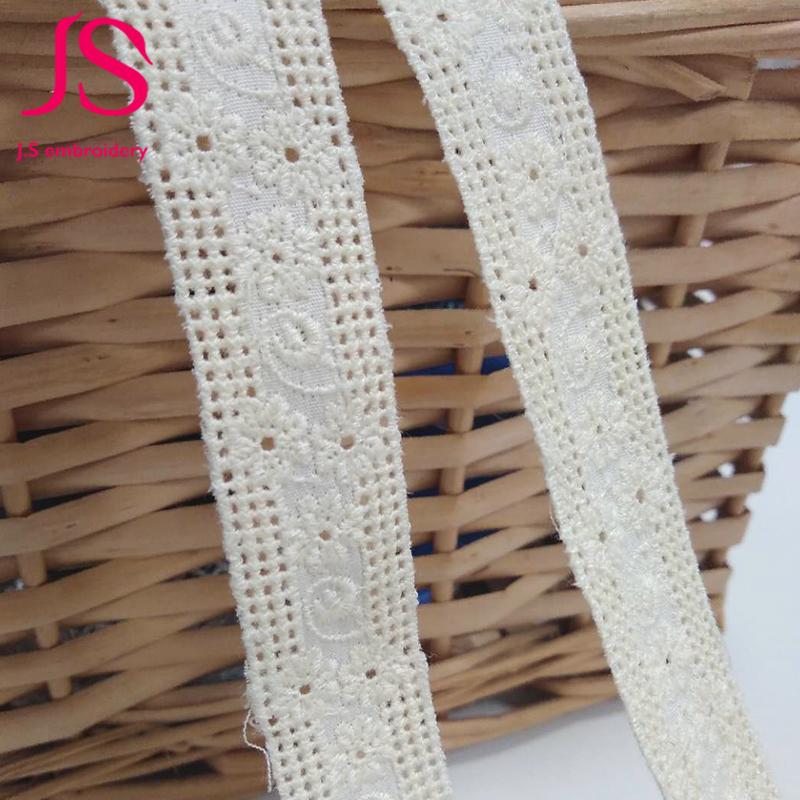 per metre 12mm  Cream Cotton Torchon Lace