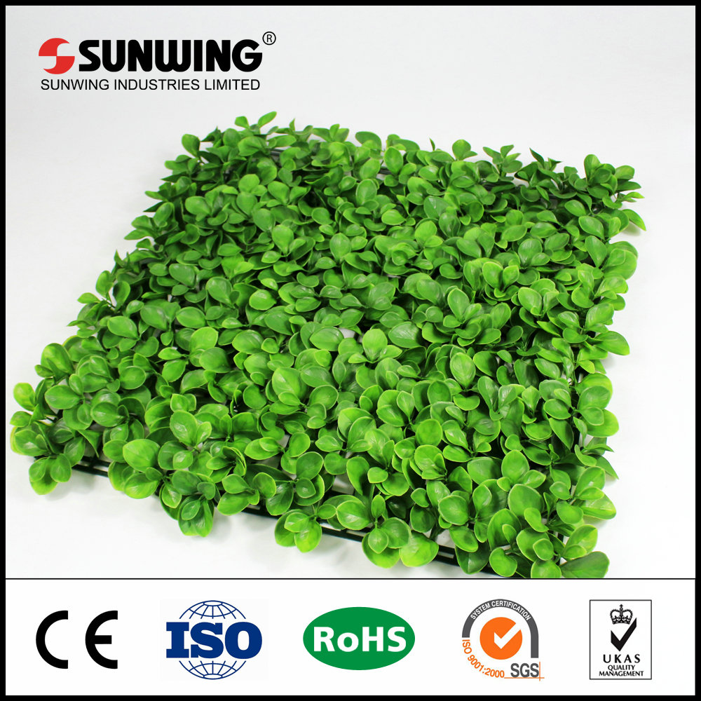 Low cost earth friendly artificial box hedge panels for front door