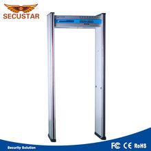 Factory price high sensitivity 6 zones door electronic walk through metal detector for safety inspection