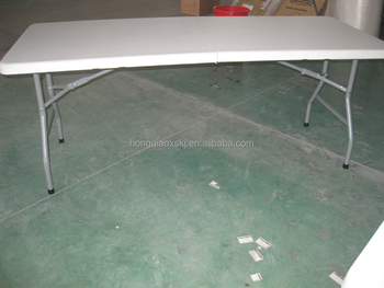 Tish Plastic Space Saving Tablefold Up In Half Household Tableft - 6ft conference table