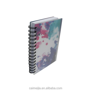 oem novelty new rose printed chinese pvc diary note book printing