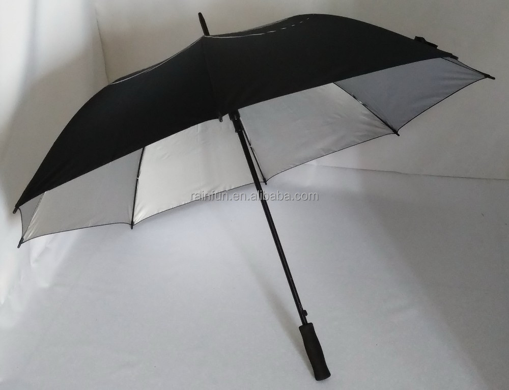 Automatic UV-protection Golf Umbrella With Fiberglass Shaft