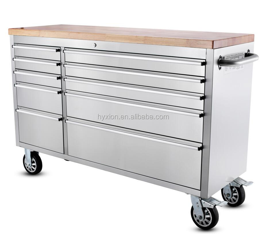 Rubber Wood Rolling Garage Tool Chest, Rubber Wood Rolling Garage ...