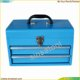 2 drawer metal tool box with lock small toolbox blue red