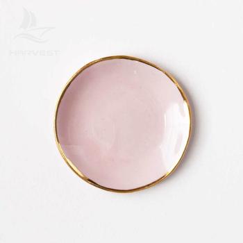 Elegant Trinket Tray Jewelry Holder Handmade Wedding Ceramic Ring Dish With Gold Rim Buy Ring Dish With Gold Rimring Dish Holderring Dish For