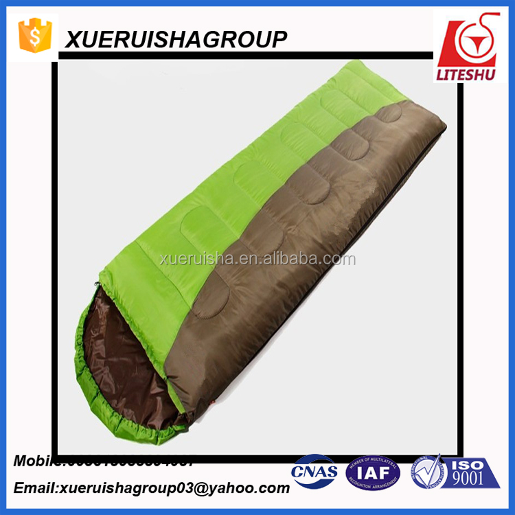 380T Nylon Waterproof Rectangle Comfortable sleeping bag for bakpacking
