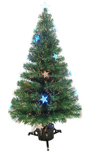 6ft Popular Firework LED Fiber Optic Christmas Tree With Clear Star, Outdoor Festival Christmastree Deroc