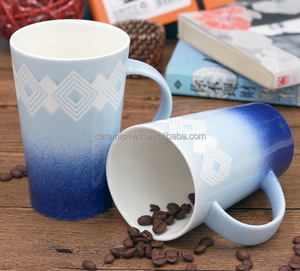Promotional galaxy sky space blue gradient ceramic coffee mug printed