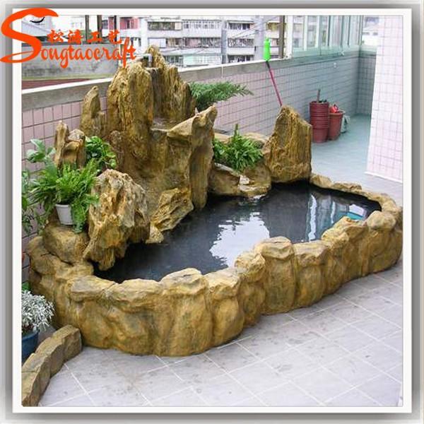 guangzhou hersteller fiberglas kunstfelsen mini wasserfall nachahmung stein gef lschte pool. Black Bedroom Furniture Sets. Home Design Ideas