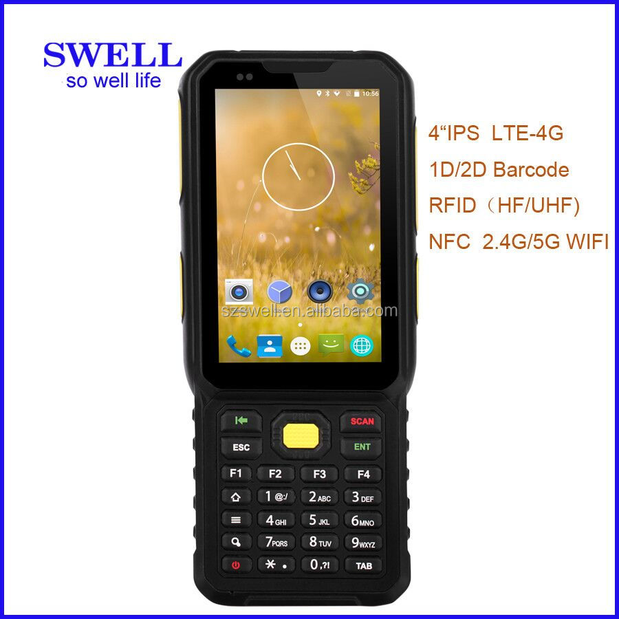 K100 rugged android pda handheld portable data terminal 4g nfc IP65 qr code barcode scanner fingerpint pos data logger