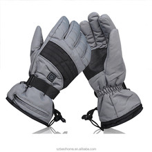 Mens and ladies rechargeable battery heated usb port ski gloves uk for winter