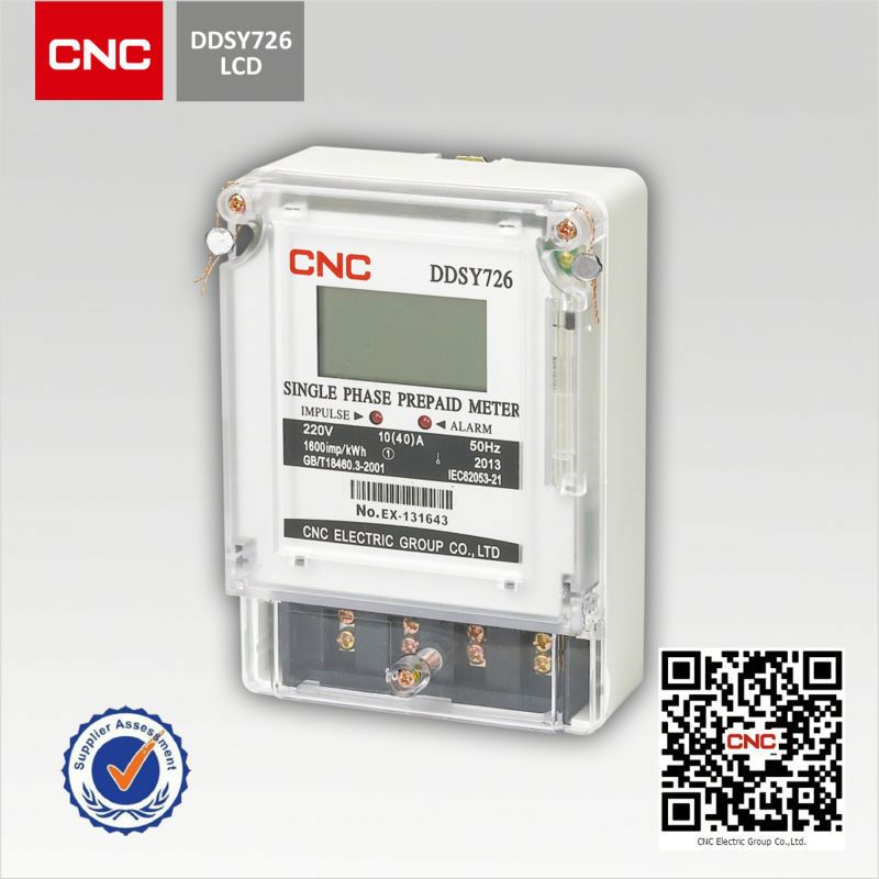 2018 DDSY726 electronic digital prepaid energy <strong>meter</strong>