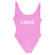 Letter custom logo one piece swimsuit high quality China factory women swimwear bathing suit