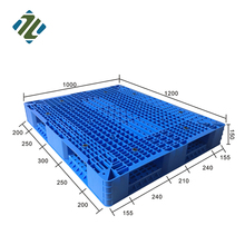 1200*1000*150 mm Euro HDPE Double Faced Durable Nestable Plastic Heavy Duty Pallet for Warehouse