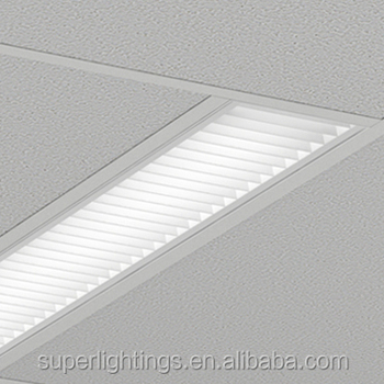 Commercial Dimmable Recessed Fluorescent Light Fixture