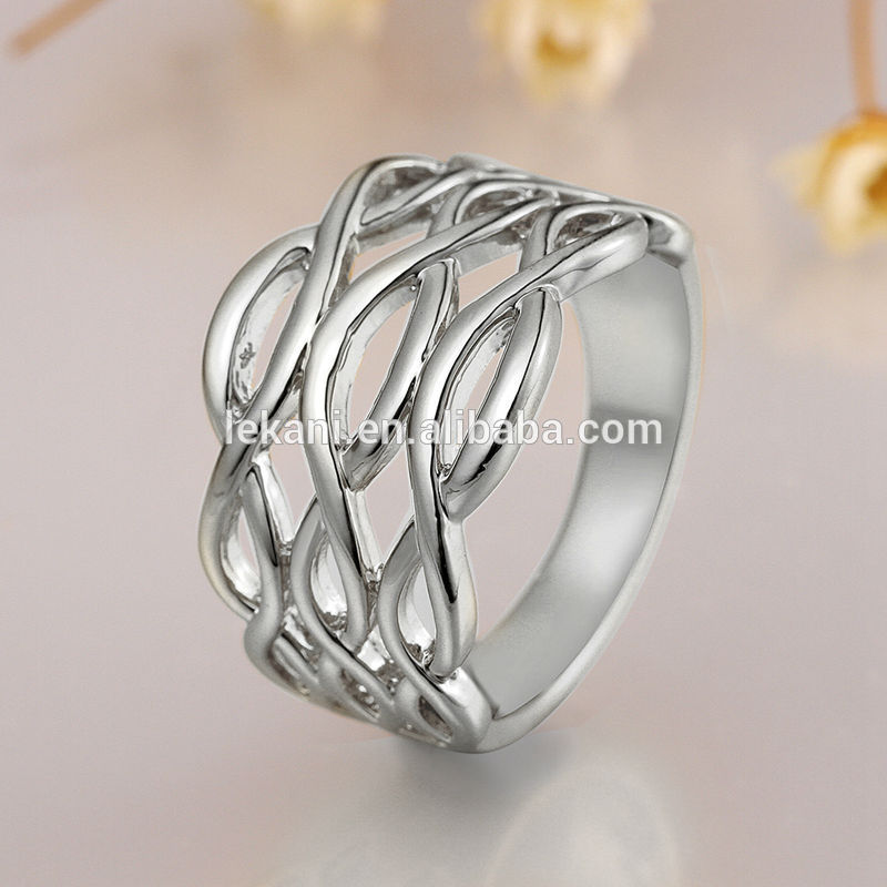 Popular Simple Design Women And Men 18k Plating Gold Rings Without ...
