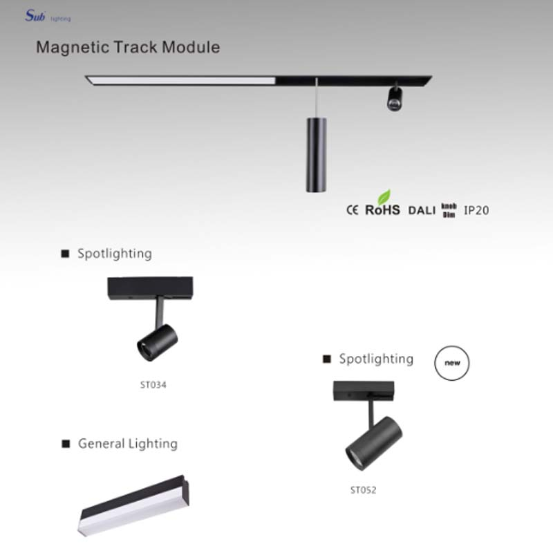 magnetic track light lighting system