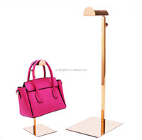 Shopping Store table top metal handbag display rack purse riser stand
