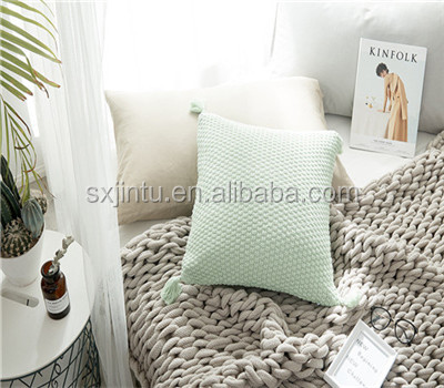 Home Decor Pillow With Delicate Tassel Sofa Decorative Pillow Cover Tassel Pillow Case Cushions