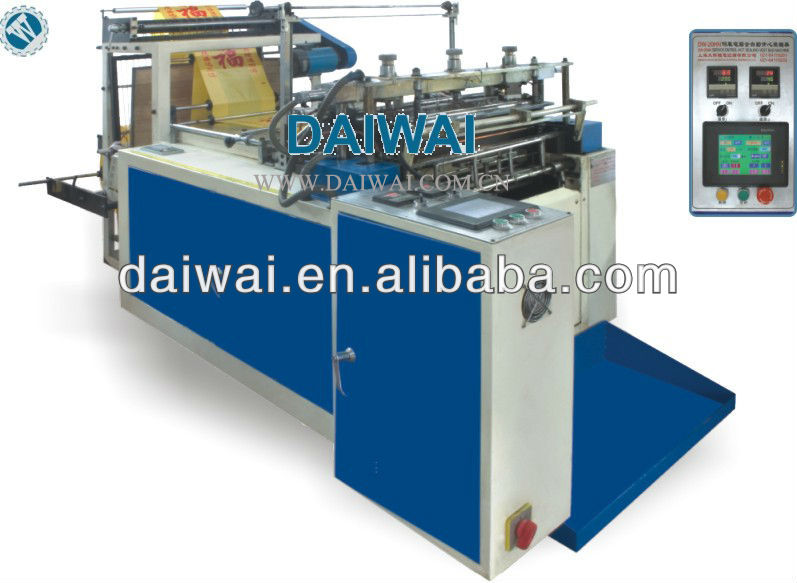 2012 new model T-shirt bag making machine,heat sealing & cutting vest bag machine