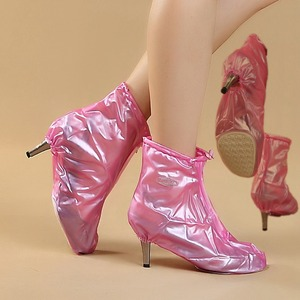 2018 Elegant PVC high heel shoe rain shoe covers for female adults & kids in Tourist area, water accumulation, heavy rain
