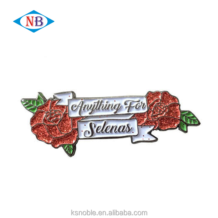 Hot selling <strong>custom</strong> made soft enamel pin rose metal badge