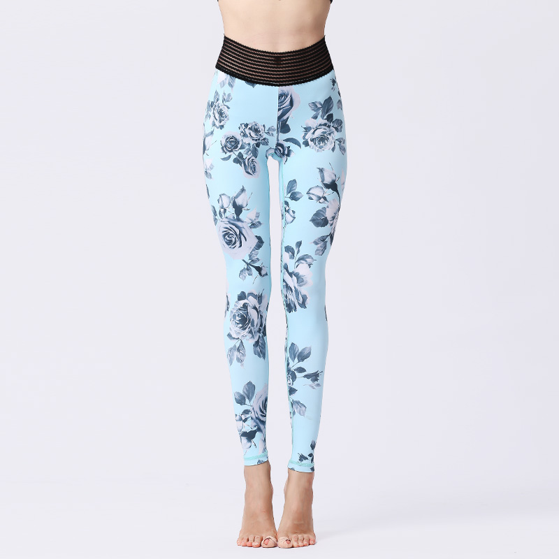 Tight printed stretch fitness running exercise training Leggings