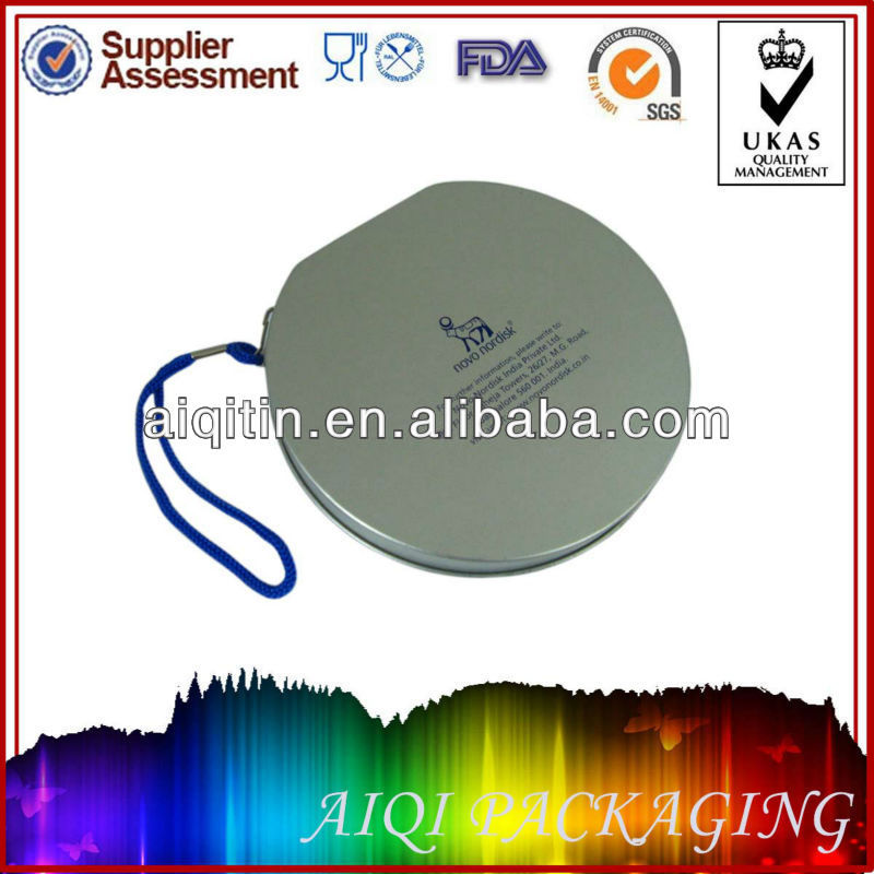 Old-fashion oblong shape outer skin can for CD