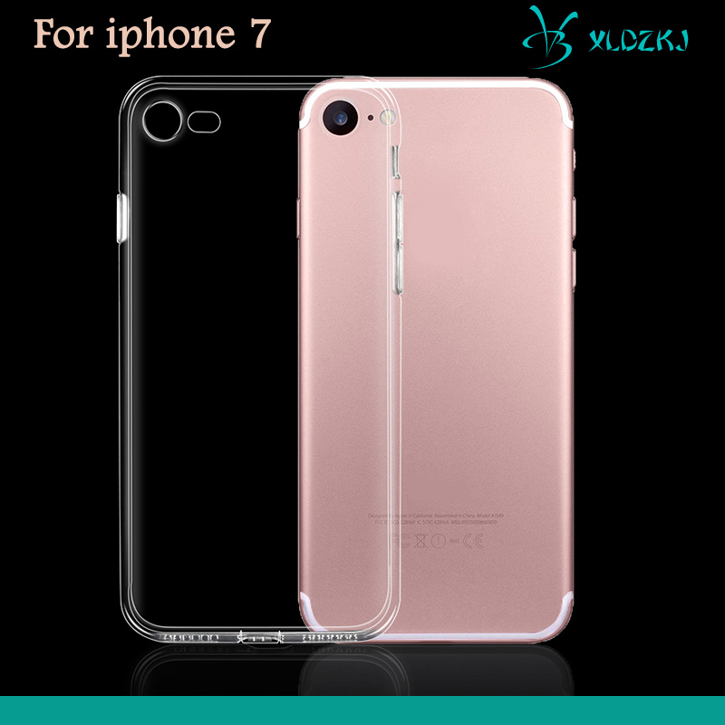 2016 New Arrival Simple Transparent Phone Case For IPhone 7 100% Exact Fit Case for iPhone 7